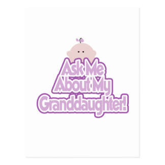 Baby Girl Ask About My Granddaughter Tshirts Postcard