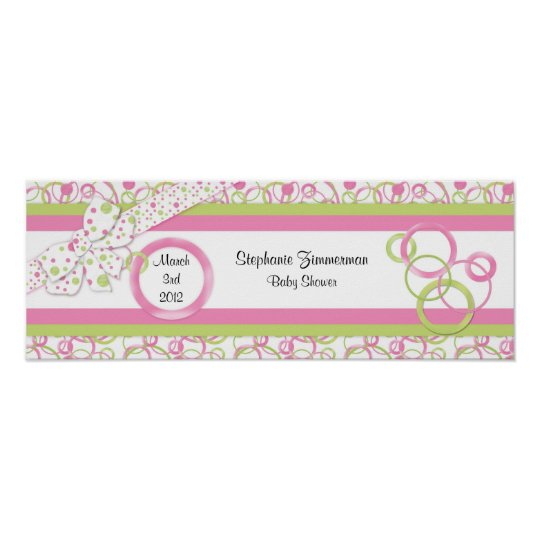 Baby Girl Baby Shower Poster in Pink