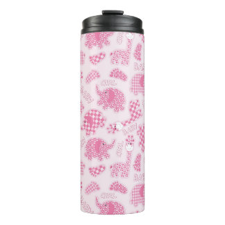 baby girl background thermal tumbler