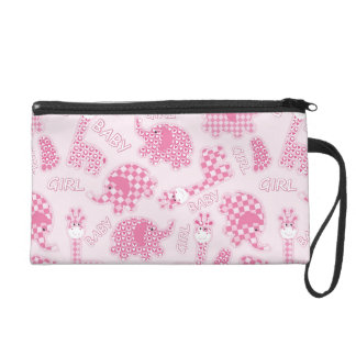 baby girl background wristlet purse