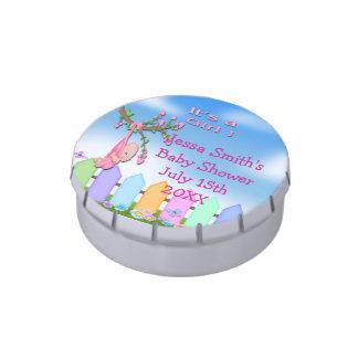 Baby Girl - Backyard Baby Shower Round Candy Tin