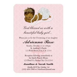 Baby Girl Baptism Christening Invitations PINK 181