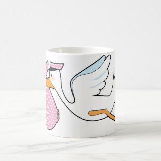 Baby Girl Basic White Mug