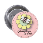 "Baby Girl Bee in Pink Grandma To ""Bee"" Pin"