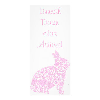 Baby Girl Birth Announcement Bookmark Keepsakes Rack Card