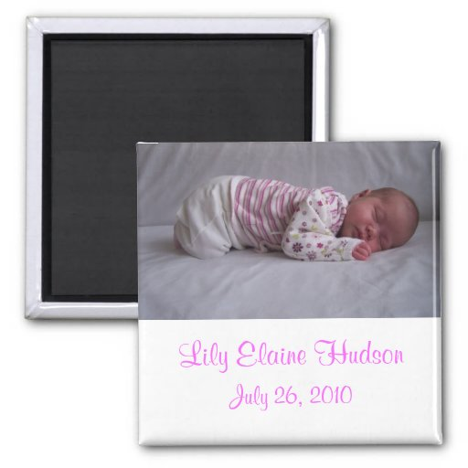 Baby Girl Birth Announcement Magnets