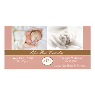 Baby Girl Birth Announcement Picture Card