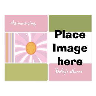 Baby Girl Birth Anouncement Postcards