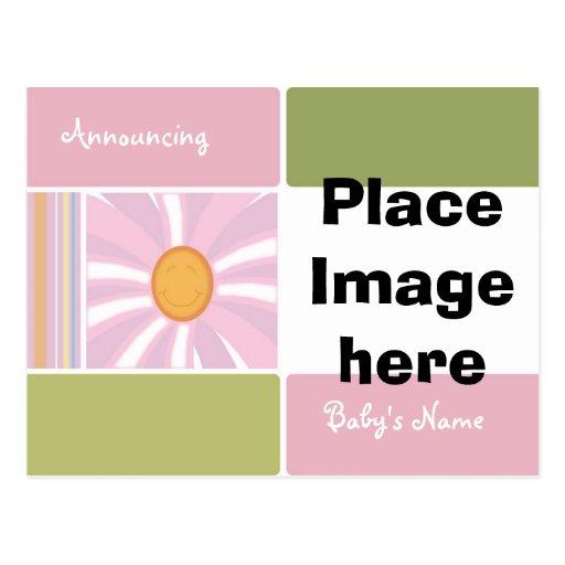 Baby Girl Birth Anouncement Postcards
