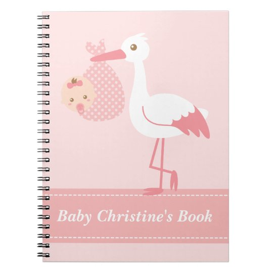 Baby Girl Book - Stork Delivers Baby Girl