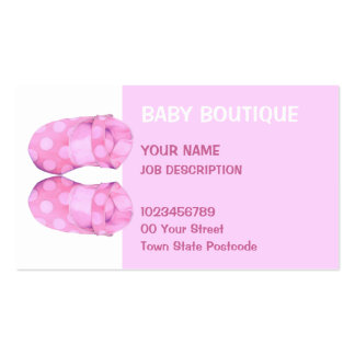 Baby Girl Booties Business Card