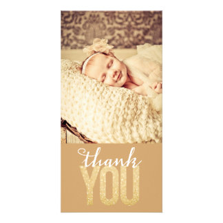 Baby Girl Boy Thank You Photo Card
