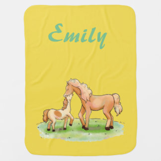 Baby Girl Boy Unisex Horse Equestrian Pony Western Baby Blanket