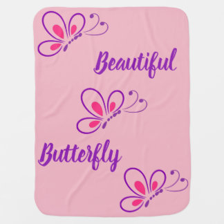 Baby Girl Butterfly Blanket