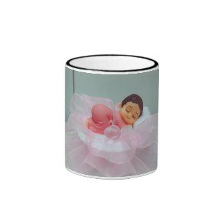 Baby girl cake topper coffee mugs
