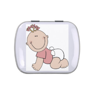 Baby girl candy tin