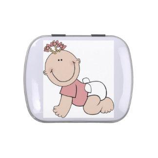 Baby girl candy tin