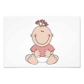 Baby girl cartoon art photo