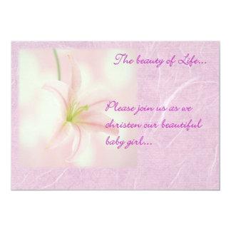 Baby Girl Christening Invitation