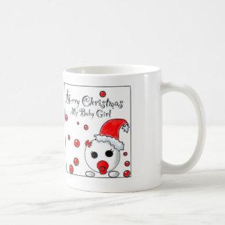 Baby Girl Christmas Gift Basic White Mug