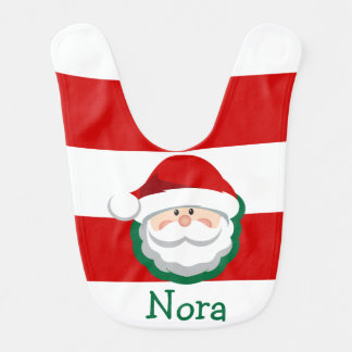 Baby GIRL Christmas SANTA Bib