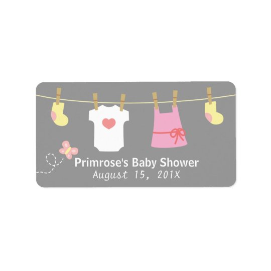 Baby Girl Clothes for Girl Baby Shower Address Label