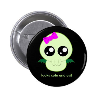 Baby Girl Cthulhu 6 Cm Round Badge