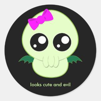 Baby Girl Cthulhu Classic Round Sticker