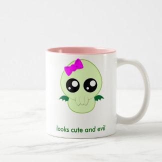 Baby Girl Cthulhu Two-Tone Coffee Mug