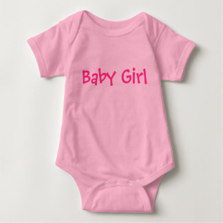Baby Girl Customizable Pink Text on Lighter Pink Tees