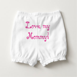 "Baby Girl Diaper Pants ""Pretty in Pink"". Nappy Cover"