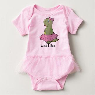 Baby Girl Dinosaur Miss T-Rex Bodysuit Tutu
