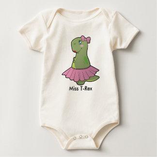 Baby Girl Dinosaur Miss T-Rex Organic Bodysuit