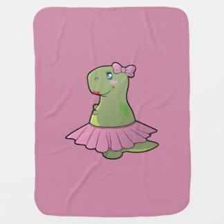 Baby Girl Dinosaur T-Rex Blanket Receiving Blanket