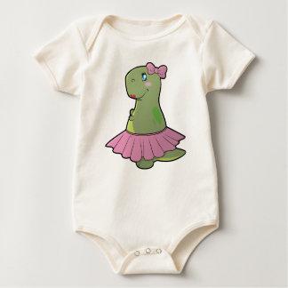 Baby Girl Dinosaur T-Rex Organic Bodysuit