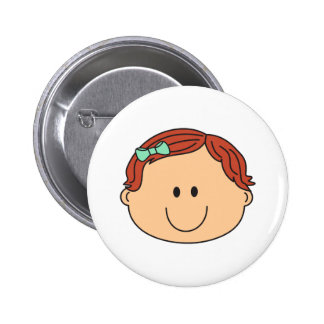 BABY GIRL FACE PINBACK BUTTONS
