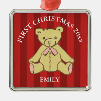 Baby Girl First Christmas Add Name and Year Christmas Ornament