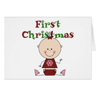 Baby Girl First Christmas T-shirts and Gifts Card