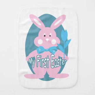 Baby Girl First Easter Bunny Burp Cloth