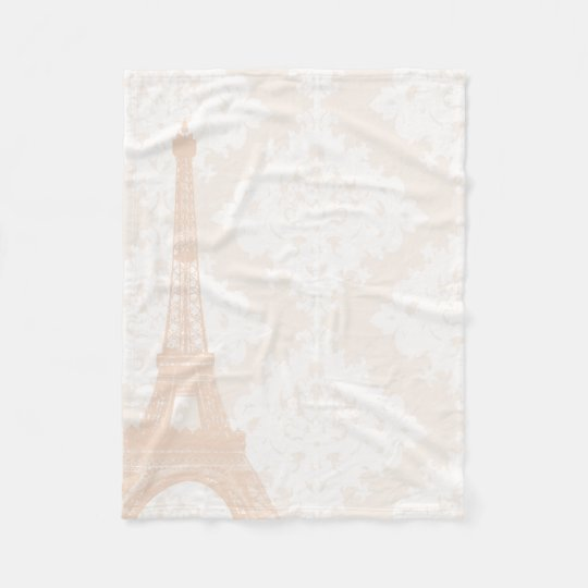 Baby Girl Floral Pinkish Coral Peach Eiffel Tower