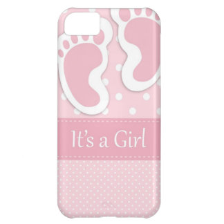 Baby Girl Footprints Adorable Cover For iPhone 5C
