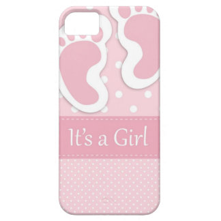Baby Girl Footprints Adorable iPhone 5 Cover