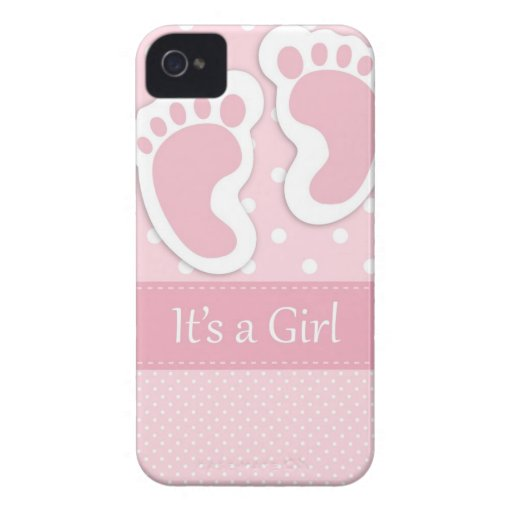 Baby Girl Footprints Adorable iPhone 4 Covers
