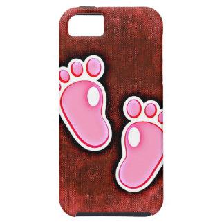 baby girl footprints feet cute expecting newborn iPhone 5 cases