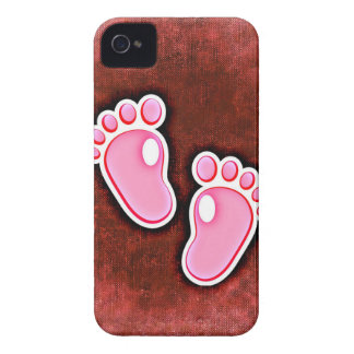 baby girl footprints feet cute expecting newborn iPhone 4 Case-Mate cases