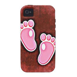 baby girl footprints feet cute expecting newborn iPhone 4/4S case