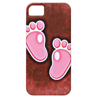 baby girl footprints feet cute expecting newborn iPhone 5 cover