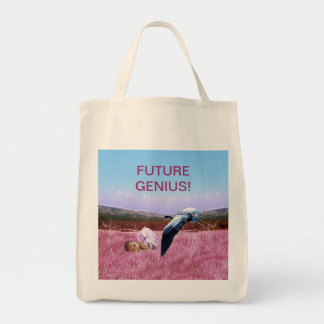 Baby Girl genius Grocery Tote Bag
