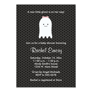 Baby Girl Ghost Halloween Shower Invitations