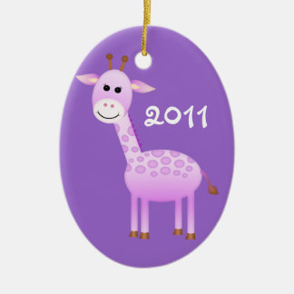Baby Girl Giraffe/ Photo Christmas Ornament